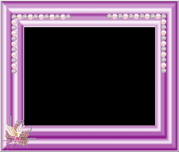 tube cadre violet